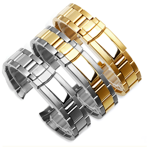 Image 2 - Stainless steel strap mens watch accessories17mm20mm for Rolex Daytona series arc mouth waterproof steel strap women watch band