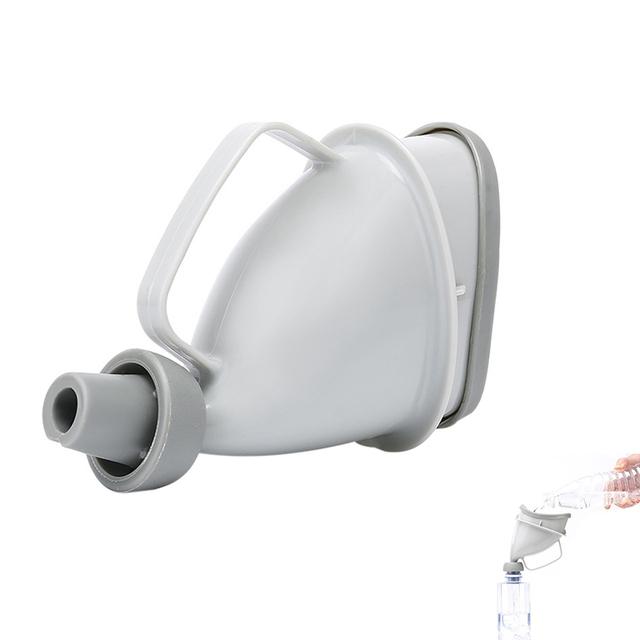 Unisex pisuar lejek przenośny Pee lejek dla mężczyzny kobiety mocz urządzenie do oddawania moczu podróży odkryty nocnik stojący toaleta tanie i dobre opinie PP silicone Grawitacja flushing NONE CN (pochodzenie) Czujnik pisuar HW5647-01 Brak w zestawie Top spud Dc typ Rura dostosowania piece