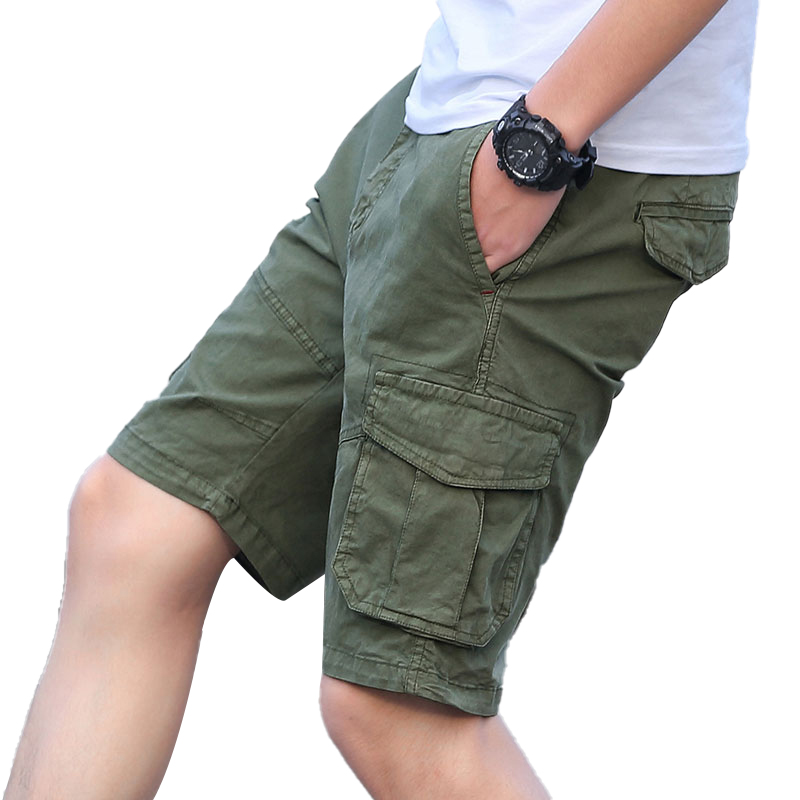 ICCZANA Brand Cargo Shorts Men Breathable Quick Dry Short Mens Shorts Army Green Work Shorts For Man Travel Hiking Camp Shorts