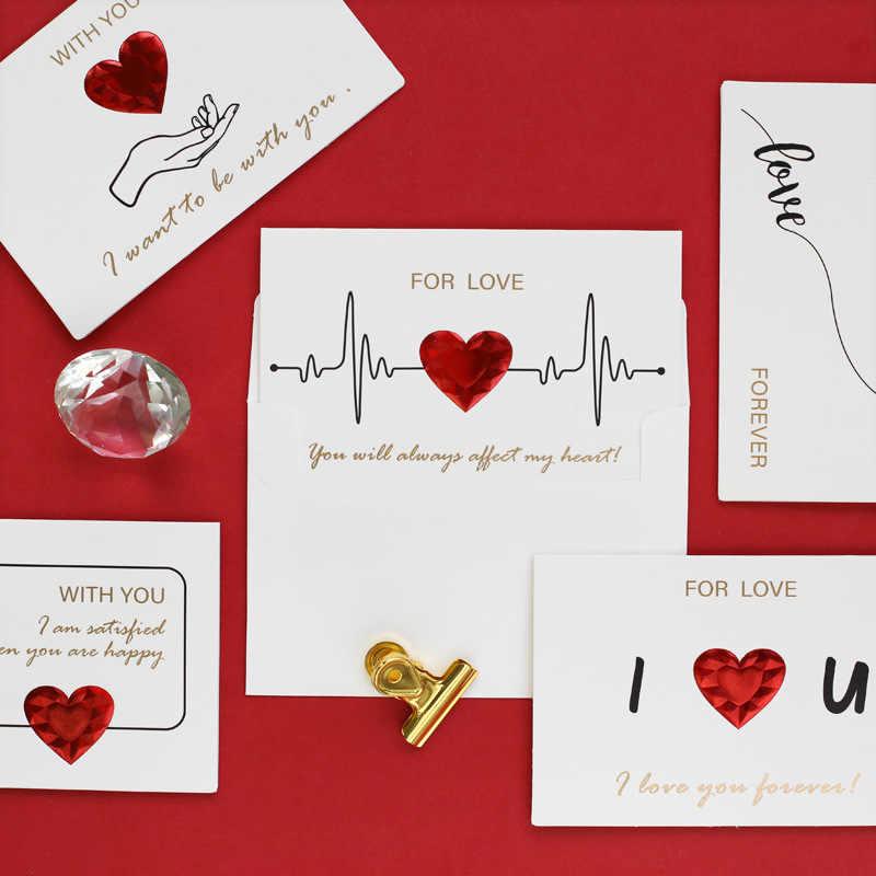 День Святого Валентина подарок Любовь подарочная карта с конвертом новый год Юбилей подарок на день рождения подарок для подруги подарок