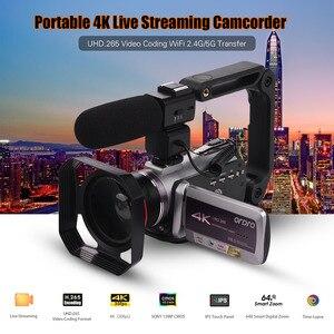 """Image 2 - ORDRO WiFi cyfrowa kamera wideo 4K UHD 30FPS kamera 3.1 """"IPS 64X IR noktowizor obiektyw szerokokątny zewnętrzne radio Mic Len Hood"""
