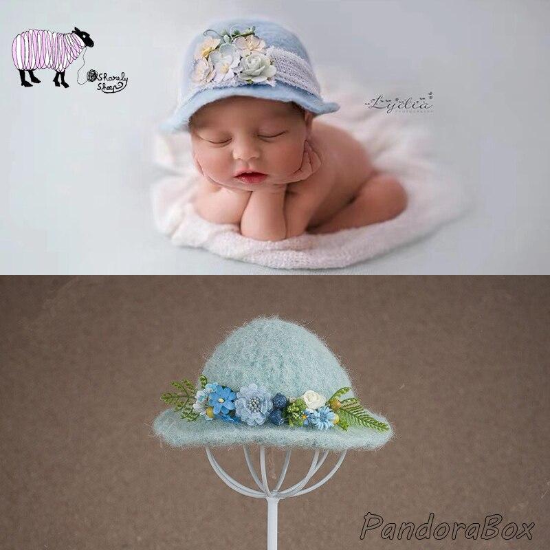 Новорожденный Подставки для фотографий 100% ручной работы для маленьких мальчиков и девочек для фотографий для студийной съемки из шерстяного войлока зимняя шапка для новорожденных fotografia аксессуары, шапка