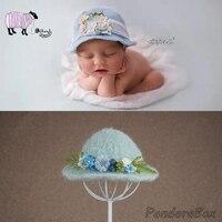 Newborn Photography Props 100% Handmade Baby Boy Girl Photo Shoot Studio Wool Felt Winter Hat Infant fotografia Accessories Cap