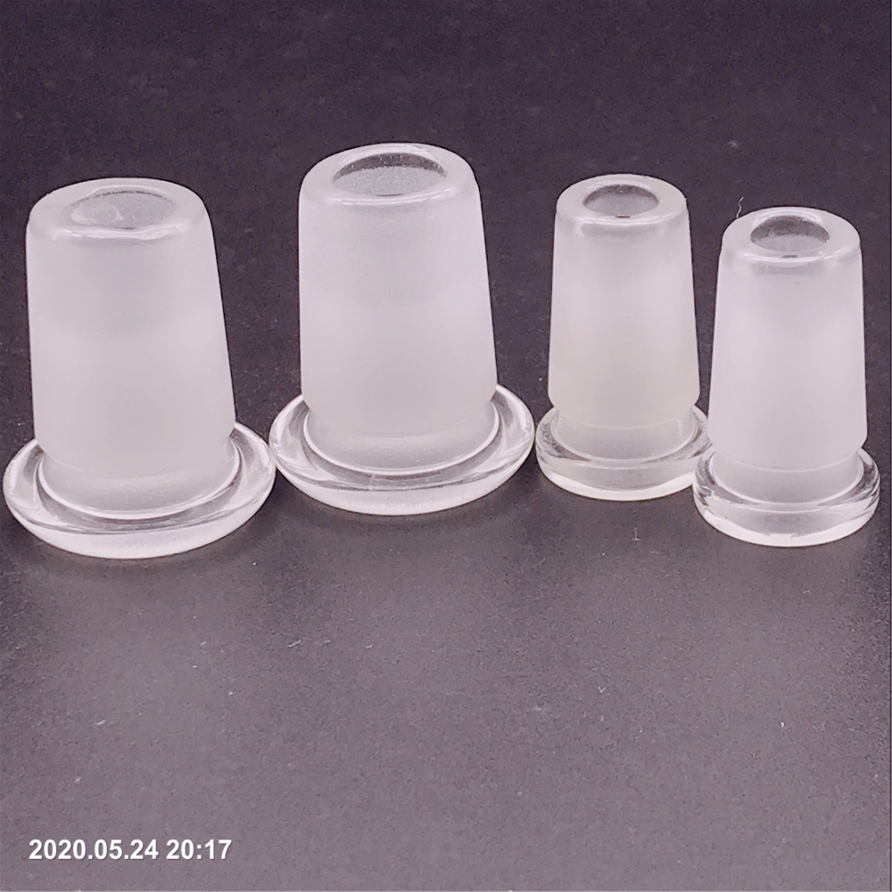 Mini Glass Adapter with Plastic Keck Clip for Water Pipes Glass Bong 5