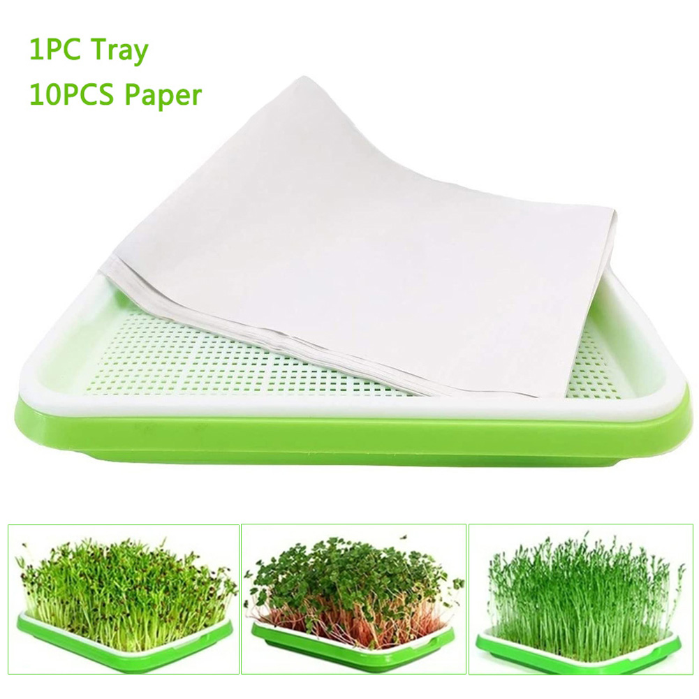 Plastic Nursery Pots Seed Sprouter Tray PP Soil-Free Big Capacity Wheatgrass Grower Seedling Tray Sprout Plate Hydroponic