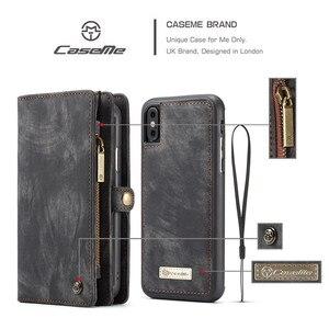 Image 3 - Luxe Magnetische Afneembare Case Voor Iphone 12 Mini 11 Pro Xs Max Xr X 7 8 6 S Plus Se 2020 Lederen Portemonnee Kaart Telefoon Tassen Cover