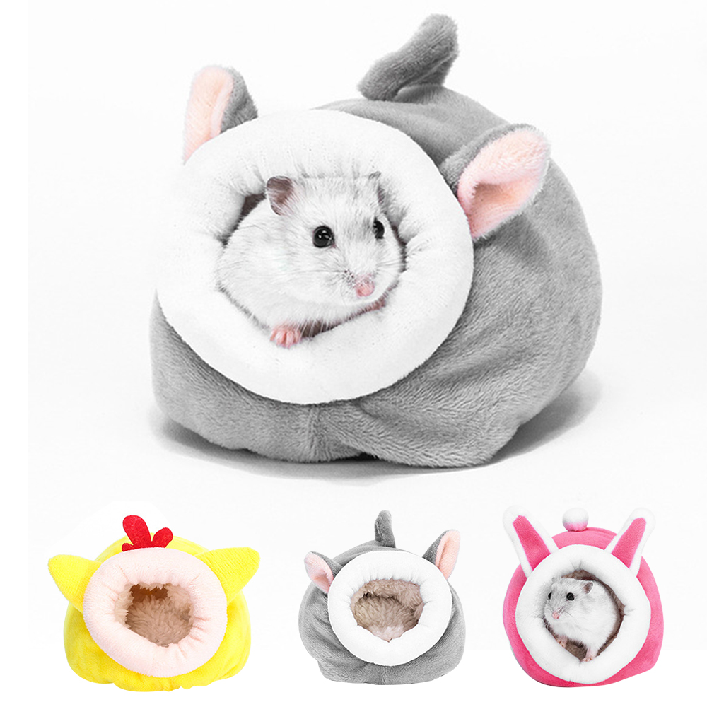 Hamster House Guinea Pig Hamster Cotton House Pet Bed House Small Animal Nest Winter Warm For Rodent/Guinea Pig/Rat/Hedgehog