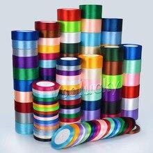 1 рулон, 25 ярдов, атласная лента, 6 мм, 10 мм, 15 мм, 25 мм, 38 мм, 50 мм, для украшения свадебной вечеринки, дня рождения, для самостоятельной упаковки подарков