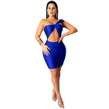 Zoctuo 2020 New Women Sexy Bodycon Club Dress Strapless Off Shoulder Hollow Out Backless Mini Party Dresses Bandage Vestidos