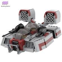 Seria gwiezdnych AAC-1 speeder tank klocki wojskowe landspeeder model Star movie fighter cegły zabawki na prezenty dla dzieci