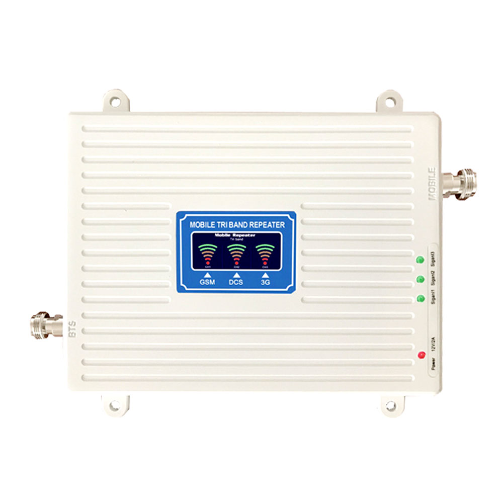 2G 3G 4G Tri-band Mobile Phone Signal Booster 70dB GSM 900 LTE 1800 WCDMA 2100 MHz Mobile Cellular Signal Repeater Cell Phone