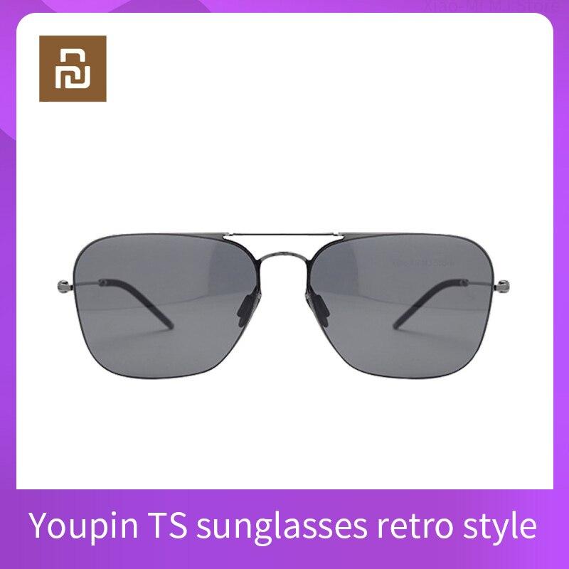 Мужские и женские поляризованные солнцезащитные очки Youpin TS, классические очки в стиле ретро