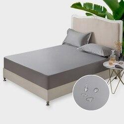 100% algodão impermeável colchão capa all-inclusive antiderrapante macio confortável colchão protetor para a vida de qualidade 1 pc