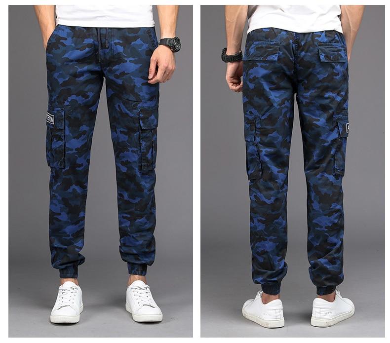 KSTUN Cargo Pants Men Camouflage Harem Joggers Men's Causal Hip Hop Trousers Drawstring Sweatpants Male Large Size Pants Good Quality 19