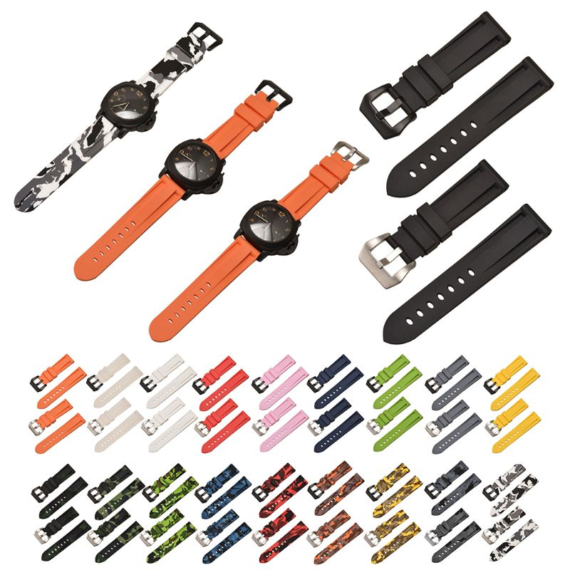 20/22/24/26mm Colorful Wrist Strap Silicone Watchband for Samsung for Panerai(China)