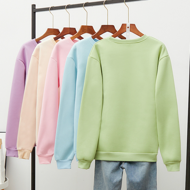 Hot Hit Winter Print Rabbit & Mouse 15 Colors S-3XL Oversize Harajuku Hoodies Women Long Sleeve Casual Couple Sweatshirts Autumn 4