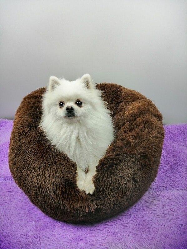 Deep sleep dog's nest round long hair South Korean velvet autumn winter nest mat cat mattress pet nest large, medium and small