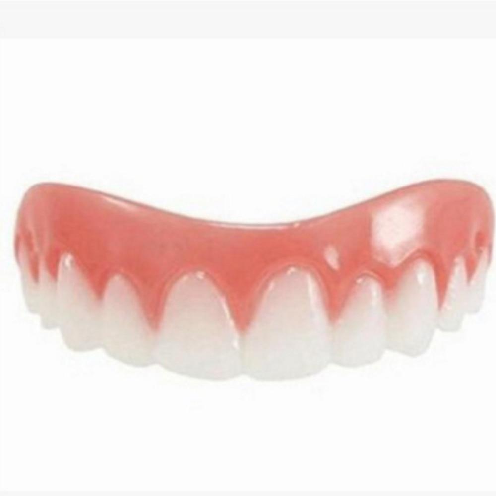 Silicone Simulation Teeth Veneer Smile Perfect Snap Denture Veneer Cosmetic Teeth Cover Whitening Braces
