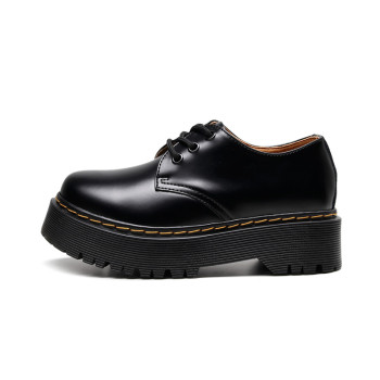 retro leather women's shoes spring autumn British student bottom work goth women The first layer of genuine leather-41