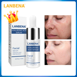 LANBENA Hyaluronsäure Serum Mitesser Entfernen Feuchtigkeitsspendende Akne Behandlung Hautpflege Reparatur Bleaching Anti-Aging Winkles 15ml