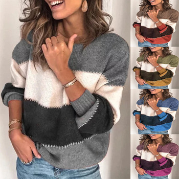 Bonjean Knitted Tops Jumper Turtleneck Autumn Winter Casual Pullovers Sweaters Women Shirt Long Sleeve O neck Loose Sweater Girl autumn winter women cotton sweaters and pullovers korean style long sleeve o neck casual sweater loose solid knitted pullovers