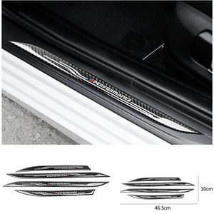 Image 1 - Car Styling Door Sill Scuff Plate Guards Decal Accessories Carbon Fiber Threshold Protector Stickers for BMW F10 5 Series 11 17