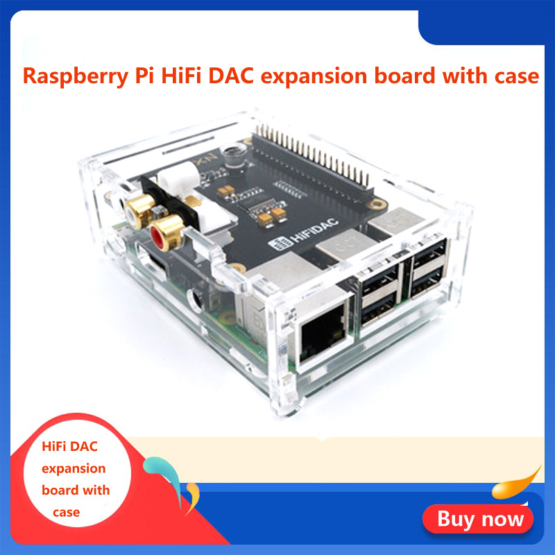 HiFi DAC Expansion Board With Case For  Raspberry Pi 3B/3B+