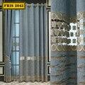 Водорастворимые полые шторы с вышивкой, шенильные шторы в Европейском стиле, светонепроницаемые шторы для гостиной, столовой, спальни