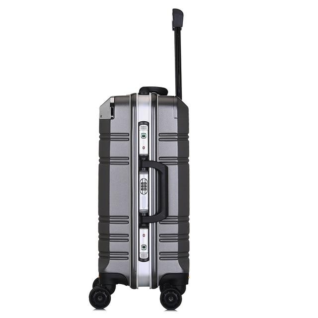 Novo 20 aluminum alumínio-moldado computador bagagem caso de negócios homens e mulheres caixa de check-in bagagem para mala de viagem carga spinner carry-ons 1