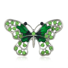 New European And American Popular Oil Drop Brooch Rhinestone Fashion Alloy Butterfly Clothes Accessories Brooch rhinestoned butterfly brooch