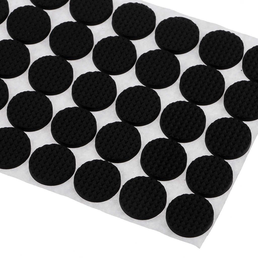 100 Buah Meja Kursi Lantai Melindungi Karet Bantalan Merasa Bantalan Anti Slip Perekat Bulat Self Adhesive Furniture Pad Awal Protector