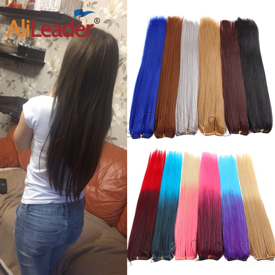 AliLeader Long Natural Hair Secret Fish Line Wire Hairpiece Straight Synthetic Invisible Halo Hair Extensions Heat Resistant