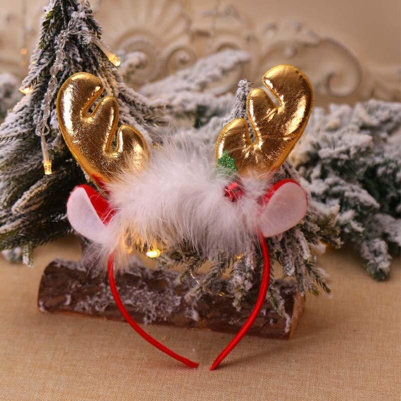 Festival Baby Cute Girls Christmas Cartoon Deer Elk Headband Headwear Apparel Photography Prop Party Gift
