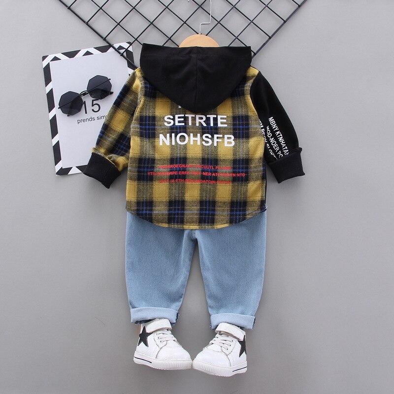 nova roupa das criancas bonito denim terno 04