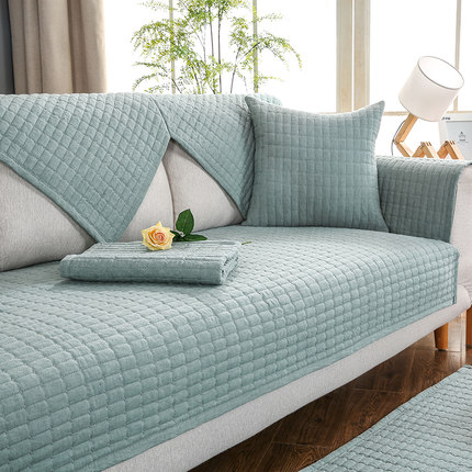Nordic solid color sofa cushion, cotton non-slip modern minimalist four seasons cushion.