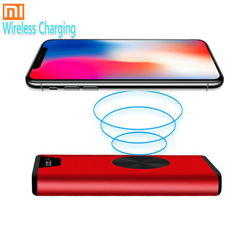 Xiaomi Brand 30000mAh Qi Wireless Power Bank Waterproof External Battery Wireless Charging Powerbank For IPhone Huawei Xiaomi MI
