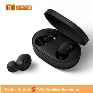 Image 1 - 2020 Xiaomi Redmi Airdots S אמיתי אלחוטי אוזניות קול בקרת Bluetooth 5.0 רעש הפחתת שליטה ברז טעינת תיבת Earbud
