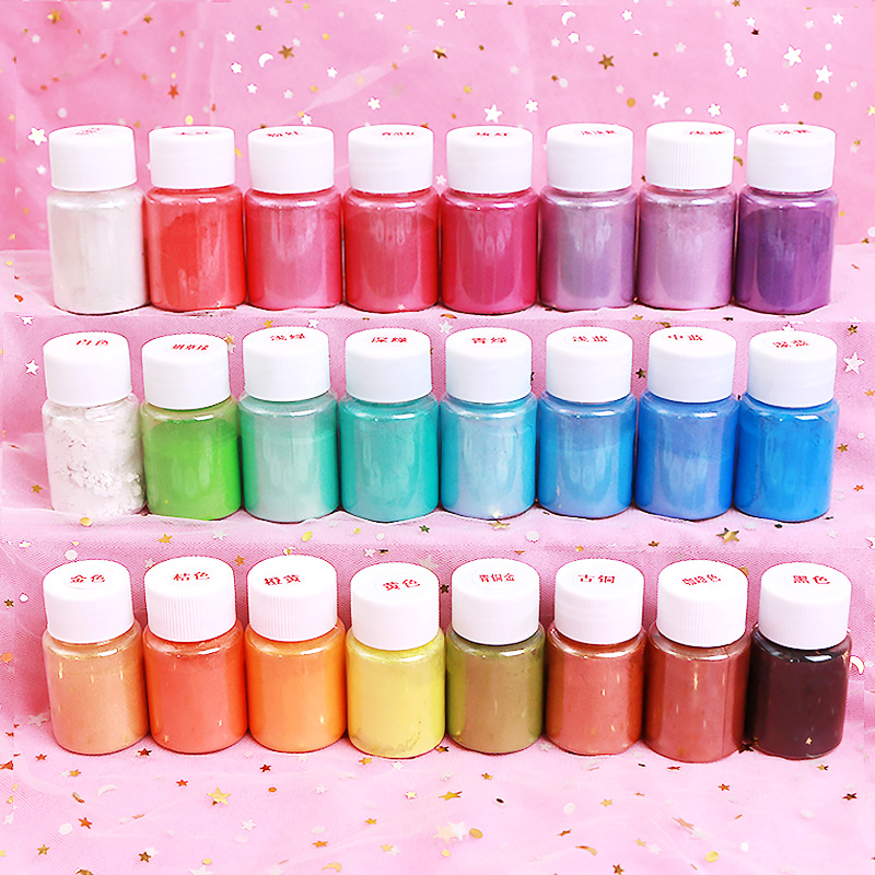 Glue For Slimes Powder Pigment DIY Lizun Toys Children Clay Cloud Slime Supplies Pearl Mica Pigment Charms Slime Additives Decor