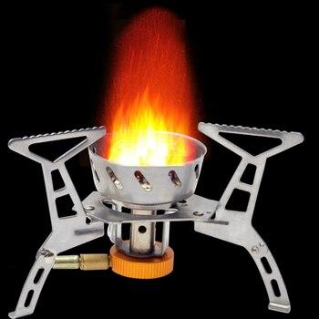 Ветрозащитная печь для походов портативный альпинистский гриль газ пьезо зажигание 3500 Вт сильный огонь легкий открытый пропан Бутан