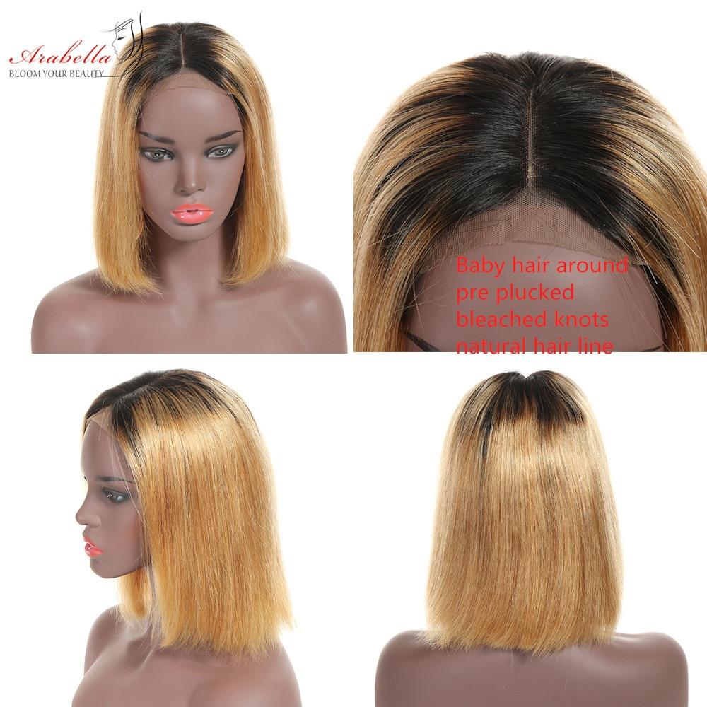 Ombre Short Bob Wigs  Straight  Wigs 180% Density Arabella Virgin Hair 4*4 Lace Wig Ombre Bob Wig 2