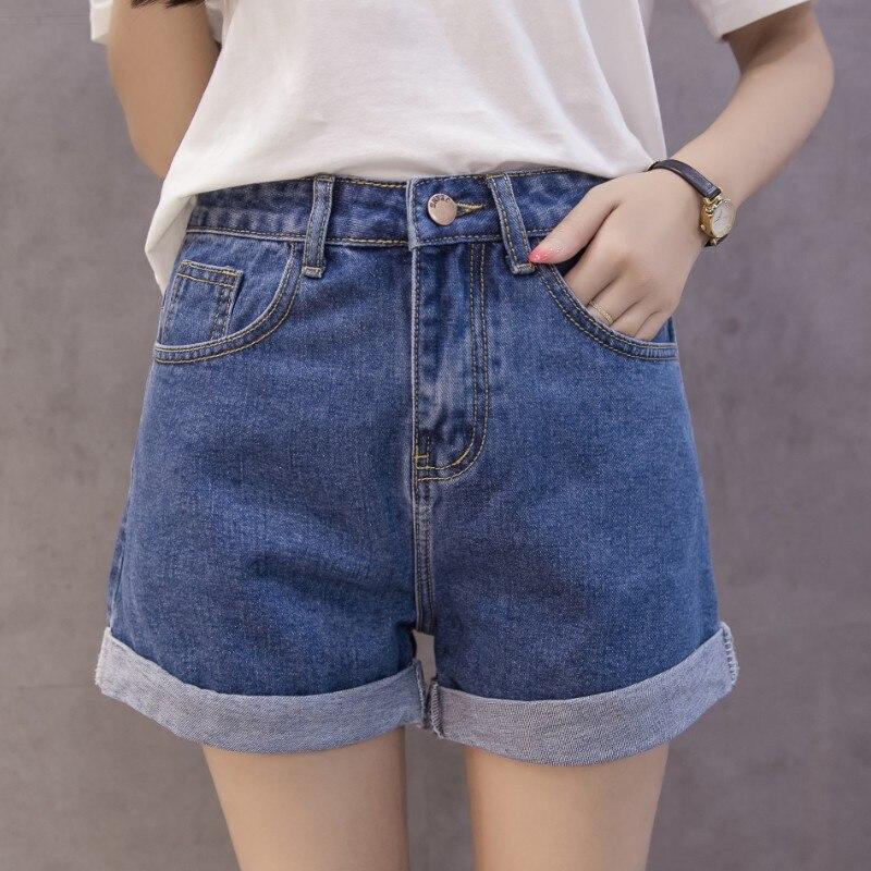 MiiKLN Denim Shorts 80% Cotton Summer Women Short Jeans 2020 New High Waist Female Summer Shorts Fashion Design Wide Leg Jean