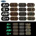 Инфракрасные ИК-нашивки типа крови, A B AB O POS, позитивная обратная нашивка CP в стиле милитари на липучке, значок для одежды, нашивки, одежда