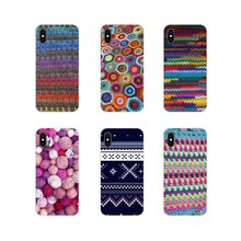 Sewing Knitting Crochet Textile Cell Phone Bag Case For Xiaomi Mi4 Mi5 Mi5S Mi6 Mi A1 A2 5X 6X 8 9 Lite SE Pro Mi Max Mix 2 3 2S(China)