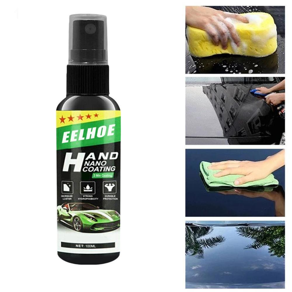 Liquid Ceramic Spray Coating Car Polish Spray Sealant Top Coat Quick Nano-Coating 100ML Car Spray Wax Car Cleaning Dropshipping