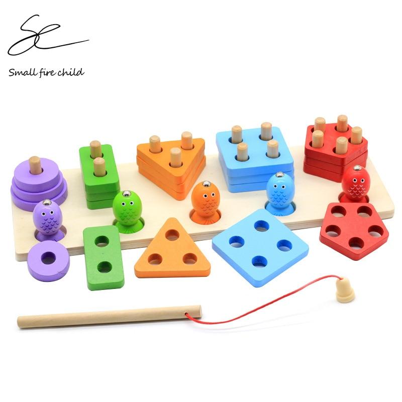 formas geometricas de madeira de pesca magnetica montessori quebra cabeca pre escolar aprendizagem jogo educativo do