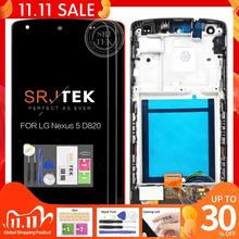 """Original 4.95"""" IPS for LG Nexus 5 LCD Display Touch Screen Digitizer Assembly with Frame Nexus5 D820 D821 Screen Replacement"""