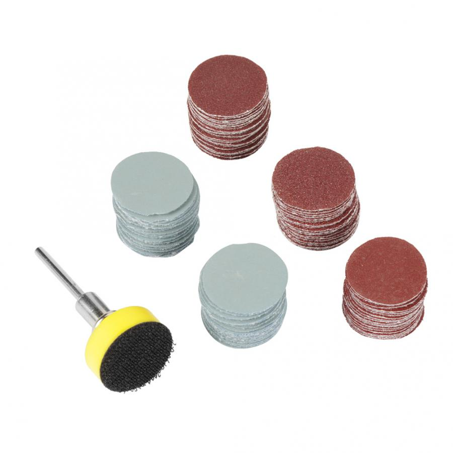100pcs 25mm Alumina Mix Grit Sander Disc Sanding Polishing Paper Pads Abrasive Sandpaper Set