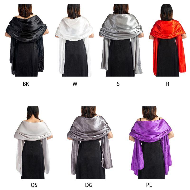 Classic Lady Evening Wear Silky Plain Chiffon Wrap Long Soft Scarf Shawl Wedding