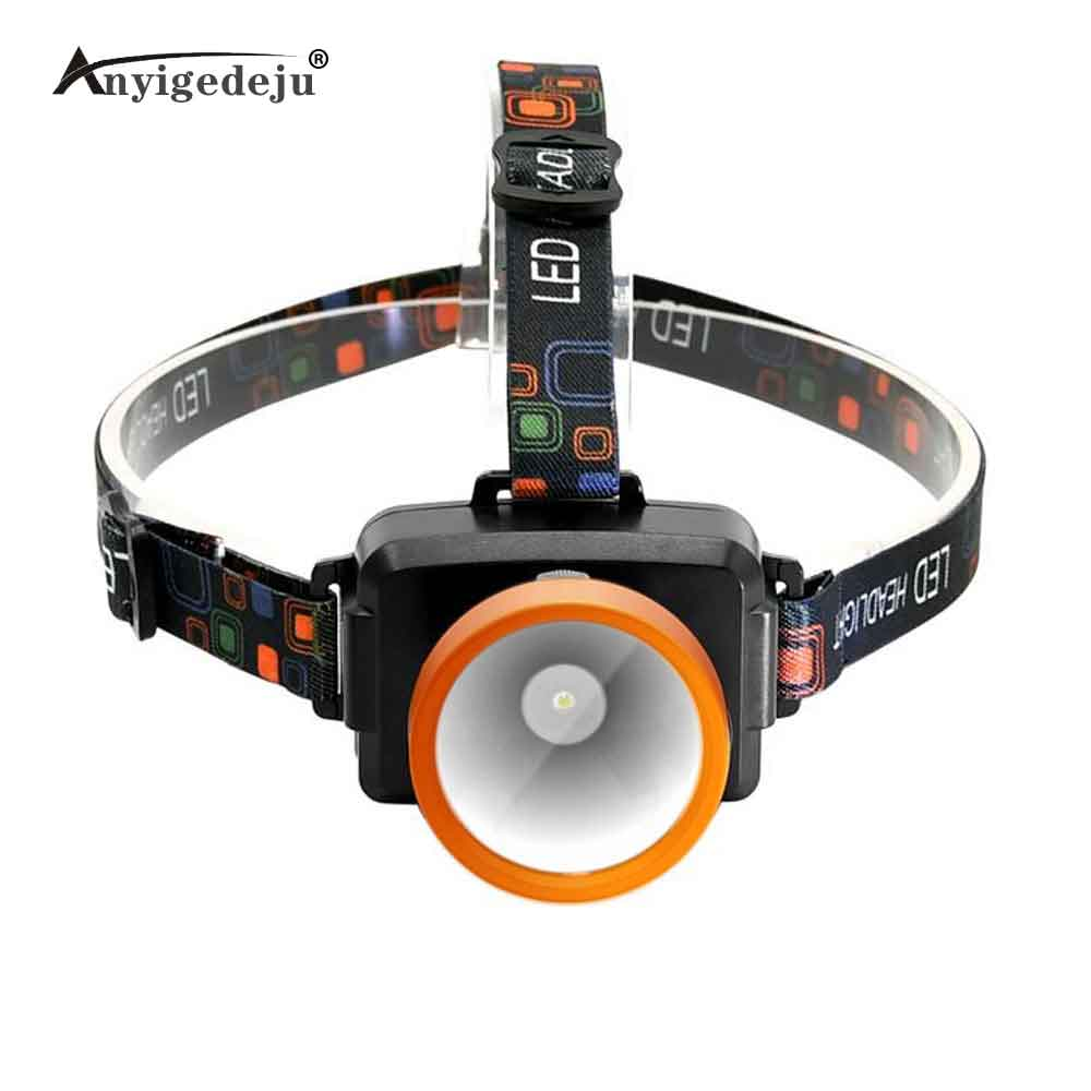 ANYIGE Rechargeable Led Head Lamp Lights Headlamp On Your Forehead Flashlight Head Light Led 18650 Head Touch Fishing Lanterna