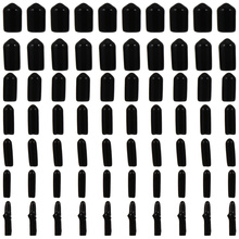 700pcs Round Thread Protector Rubber End Cap Cover for Bolt Screw (Black)